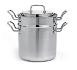 Norpro Krona 3 Piece Stainless Steel  6Qt Steamer/Cooker 622