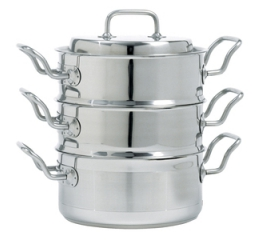 Norpro Krona 4 Piece Stainless Steel  3Qt Multi-Cooker Set 640