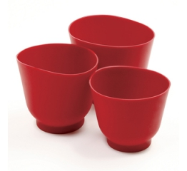 Norpro Silicone Bowl Set, 3 Piece  Red 1019R