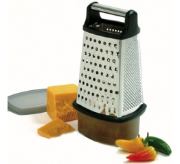 Norpro Stainless Steel  4 Sided Grater W/Catcher 325