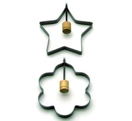 Norpro Star/Flower Pancake/Egg Rings, 2 Piece s 984