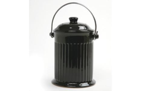 Norpro 1G Ceramic Compost Crock, Black 93EB