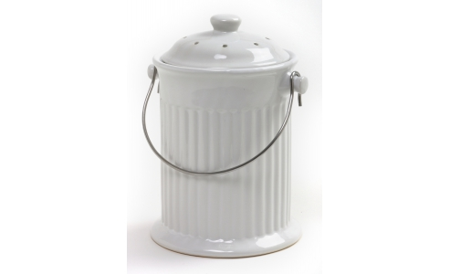 Norpro 1G Ceramic Compost Crock, White 93