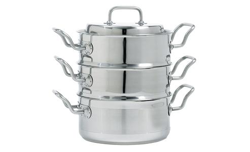 Norpro Krona 4 Piece Stainless Steel  3Qt Multi-Cooker Set 640