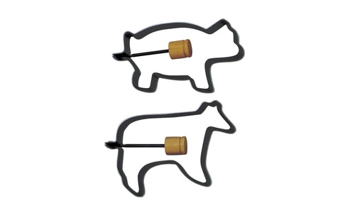 Norpro Pig/Cow Pancake/Egg Rings, 2Piece s 988