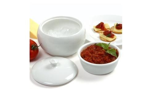 Norpro Porcelain Stay Cool/Warm Dip Server 295