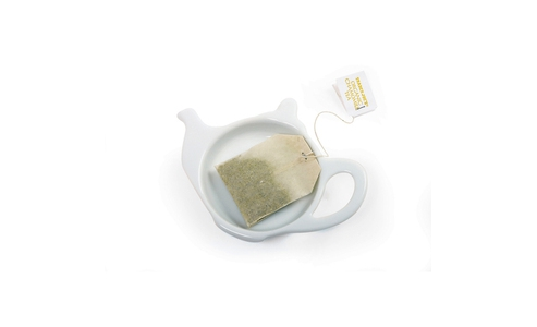 Norpro Porcelain Tea Bag Holder, Teapot 5616