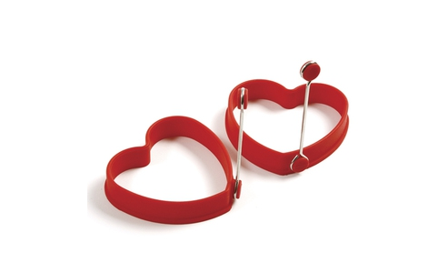 Norpro Silicone Heart Pancake/Egg Rings,2Piece  999R