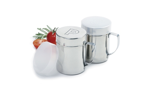 Norpro Stainless Steel  Salt/Pepper Shaker Set With Handles 763