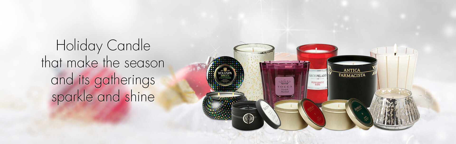 Holiday Candles Collection